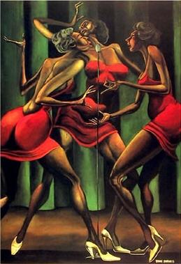 Singin-Sistahs-by-Ernie-Barnes